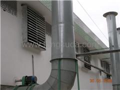 负压镀锌板风机安装案例